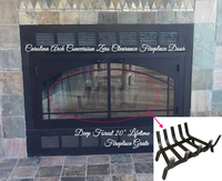 "Deep Forest 20"" Lifetime Fireplace Grate"