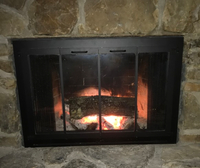 Cascade Air Tight Fireplace Door For Masonry Fireplaces