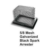 5/8 Inch Mesh Black Galvanized Steel Spark Arrestor