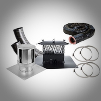 Direct Vent Pipe and Liner Kits for Gas Fireplaces