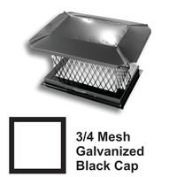 3/4 Inch Mesh Black Square Galvanized Steel Chimney Caps