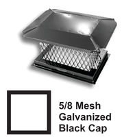 5/8 Inch Mesh Black Square Galvanized Steel Chimney Caps