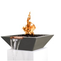 Concrete Fire and Water Feature