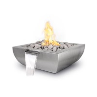 Stainless Steel Fire & Water Feature