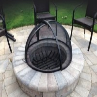 Custom Round Fire Pit Screen