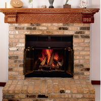 Prefab Fireplace With Brick Facing