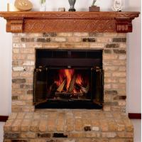 Prefab Fireplace With Brick Facing