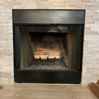 Prefab Fireplace With Stone Facing