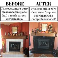 Brookfield Zero Clearance Fireplace Door in Vintage Iron Powder Coat
