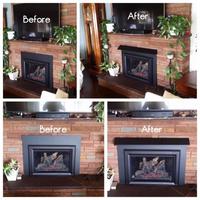 Standard Width Fireplace Hood in Textured Black Powder Coat