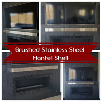 Brushed Stainless Steel Mantel Shelf