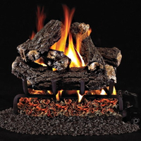 Small Gas Log Sets shown in RealFyre Golden Oak