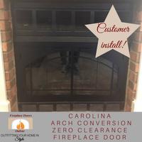 Carolina Arch Conversion ZC Fireplace Door