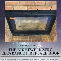 Nightwell ZC Fireplace Door - Matte Black