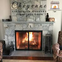 Cheyenne Air Sealed Masonry Fireplace Door