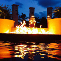 Custom fire on water feature