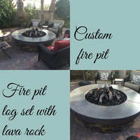 Completed custom fire pit