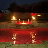 Concrete fire & water bowls