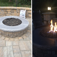 Ready to finish gas fire pit - completed!