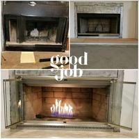 Shadow ZC Fireplace Door - Satin Nickel