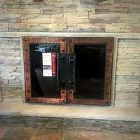 Medieval Fortress Hidden Frame Masonry Fireplace Door