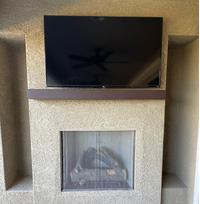 Custom size Steel Mantel Shelf in Weather Brown