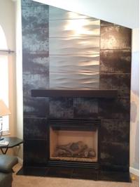 Custom Length Steel Mantel Shelf