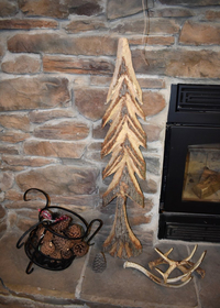 Rustic hand carved pine tree!