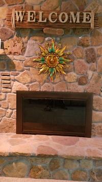 Bungalow Custom Fireplace Door