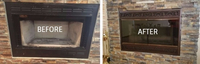 Brookfield Zero Clearance Deluxe Refacing with Glass Doors for Zero Clearance Fireplace