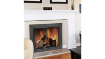 The Carson fireplace glass door arrives fully assembled and includes mounting hardware
