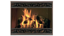 Screen in Rustic Black With Louver Option