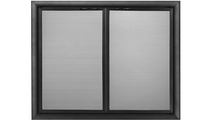 Basic Front Direct Vent Screen in Rustic Black