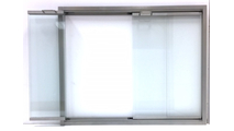 Silver Aspect Fireplace Glass Door