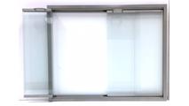 Silver Aspect Fireplace Glass Door