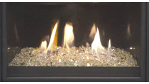 25 Inch iSeries shown with Fire Glass
