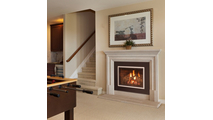 iSeries with four-sided surround in fireplace