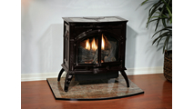 28 Inch Millivolt Vent Free Gas Stove - Heritage by Empire Distributing Room Setting