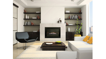 """20"""" Millivolt 4 Sided Small Vent Free Gas Fireplace Insert Room Setting"""
