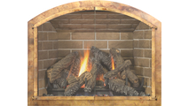 Aged Solid Brass Arch Masonry Fireplace Door