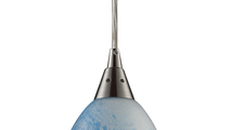 1-Light Geologic Mini Pendant in Satin Nickel