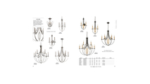 3-Light Dione Elk Chandelier in Polished Nickel