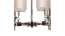 6-Light Pembroke Chandelier in Polished Nickel