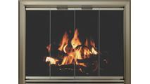 Lancer Fireplace Door Shown In Antique Pewter