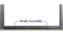 Bungalow Masonry Fireplace Door - bottom draft assembly