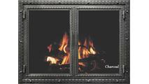Charcoal Finish Denali Fireplace Door