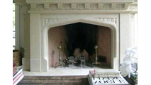 Gothic Arch Masonry Fireplace Door in Matte Black