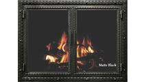 Matte Black Finish Denali Fireplace Door
