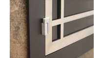 Inset Hinge Style And Shows How Door Is Flush With Main Frame