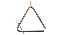 """Authentic Western Medium Dinner Triangle Hammered Steel 10""""  Frontview"""